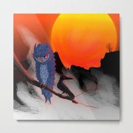 Umbral nocturno (Night threshold) Metal Print
