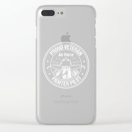 Proud Air Force Veteran Fighter Pilot design Clear iPhone Case