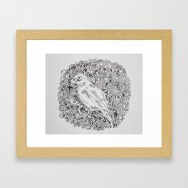 Rococo GreenFinch Sphere Framed Art Print