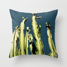 Cactus - blue Throw Pillow
