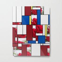 Red Rose Edges Art Rectangles 4 Metal Print