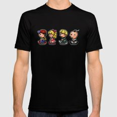 Earthbound Guys Mens Fitted Tee Black LARGE