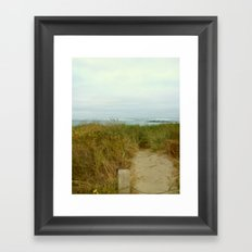 Ocean Path Framed Art Print