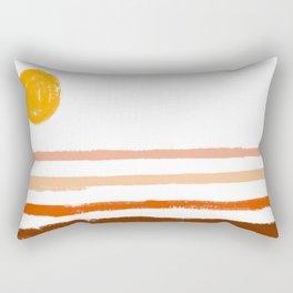 Minimalist Desert Palette Rectangular Pillow