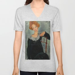 "Amedeo Modigliani ""Woman with Red Hair"" (1917) Unisex V-Neck"