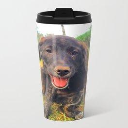 Precious Puppy Metal Travel Mug