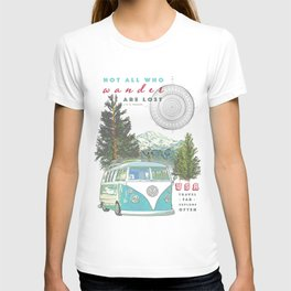"""Not all who wander, are lost"" poster print T-shirt"