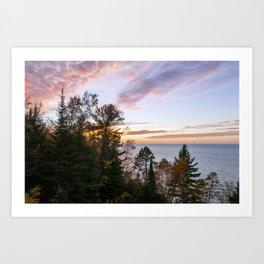 Superior Fall Colors at Sunset Art Print