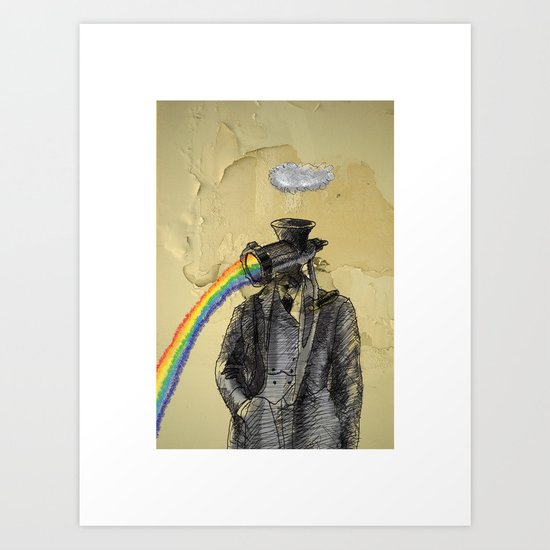 overcast with scattered spectrums Art Print