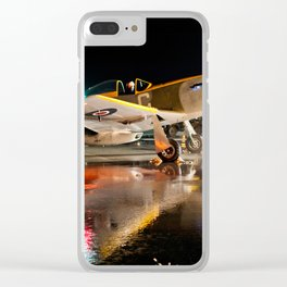 Mustang at Night Clear iPhone Case