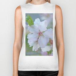 Almond tree flower blooming Biker Tank