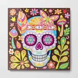 Sugar Skull (Naturaleza) Metal Print