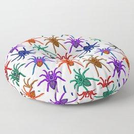 Spiders Colorful Halloween Tarantulas Pattern Floor Pillow