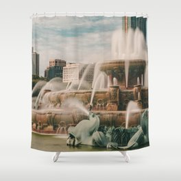 Fountain View 3 Shower Curtain