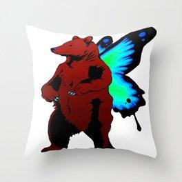 Butterfly Bear Throw Pillow