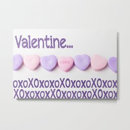 XOXOXO - Lots of Love Metal Print
