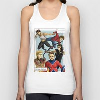 superheroes Tank Tops featuring 1D superheroes by Aki-anyway