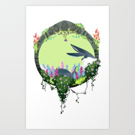 Bunnymund Circlet Art Print