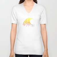 tequila V-neck T-shirts featuring Tequila Sunrise Wave by Bethany Lewis