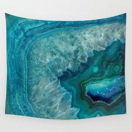 Turquoise teal decorative stone Wandbehang