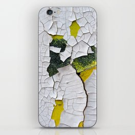 Cracked paint, abstract background iPhone Skin