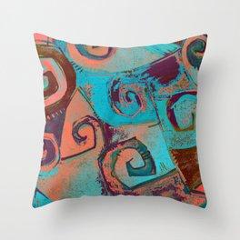 Square circles Throw Pillow