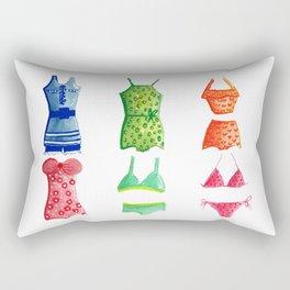 Evolution of the swimsuit Rectangular Pillow