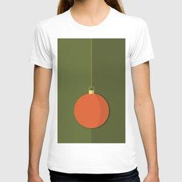 Christmas Globe - Illustration in Green and Orange T-shirt
