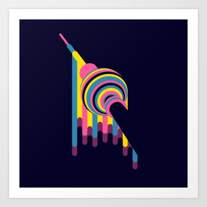 Lollipop Tower Art Print