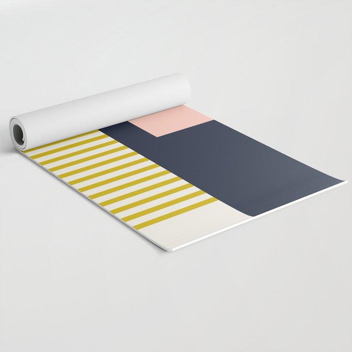 Sol Abstract Geometric Print in Multi Yoga Mat