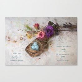 Bird Nest Scoop Canvas Print