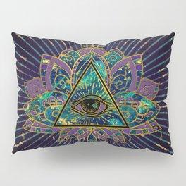 All Seeing Mystic Eye in Lotus Flower Pillow Sham