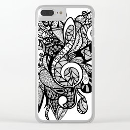 Let the music play! Clear iPhone Case