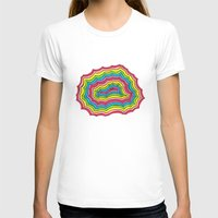 geode T-shirts featuring Rainbow Geode by Audrey Pixel Designs