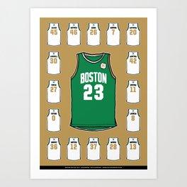 Celtics Roster Gold Art Print