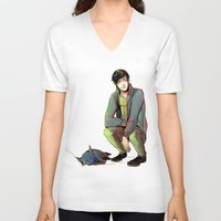 jem V-neck T-shirts featuring Jem and Church by The Radioactive Peach