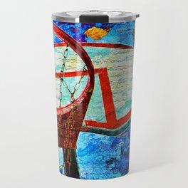 Colorful Modern Basketball Art Travel Mug