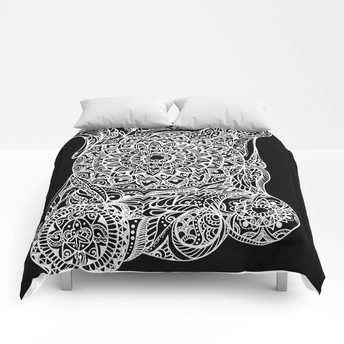 Mandala of deep meditation Comforters