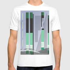 Rolling Through The Pines Mens Fitted Tee White MEDIUM
