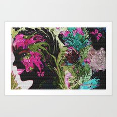 I love being A flower Art Print