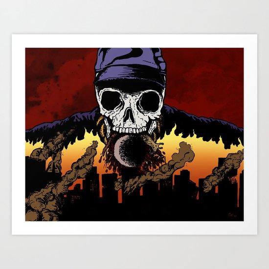 """Hip Hop Horror"" by Cap Blackard Art Print"