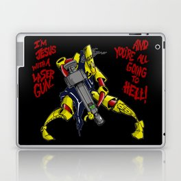 Scud The Disposable Assassin: Jesus with a Laser Gun! Laptop & iPad Skin