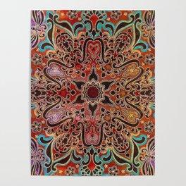 Batik Flower Poster