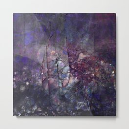 Cracked Purple Geode Texture Metal Print