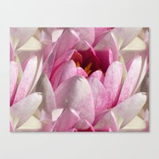 Water Lily Pattern Canvas Print