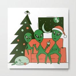 Alien Christmas Metal Print