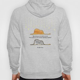The Little Prince, under stars, a hat or a boa constrictor? Hoody