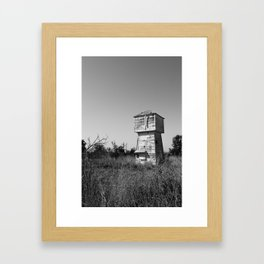 Abandoned Water Tower Framed Art Print