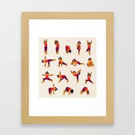 Yoga Tiger Framed Art Print