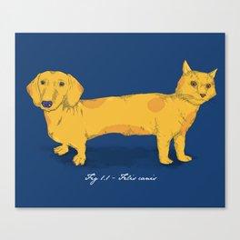 Felis canis Canvas Print